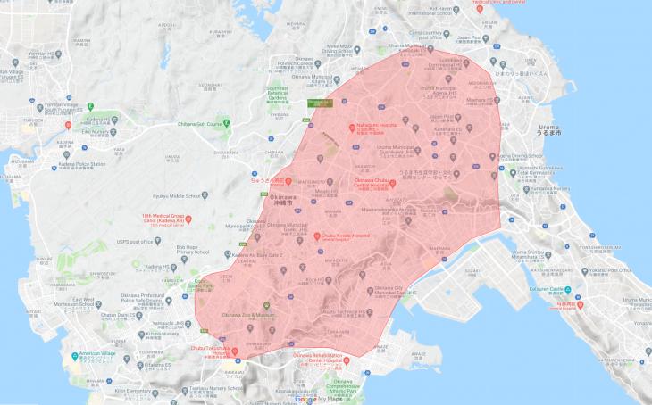 Uber Eats(ウーバーイーツ)うるま市エリア